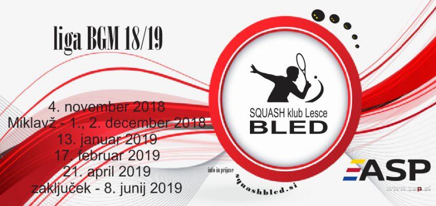 Turnirji BGM v sezoni 2018/2019
